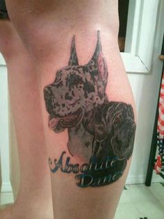 The 15 Coolest Great Dane Tattoo Designs In The World