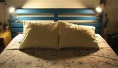 camas matrimoniales con palets - Buscar con Google con luces