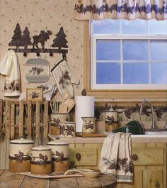 Cabin Bedding | Cabin Kitchen Accessories, Lodge Kitchen Decor Rustic Kitchen…