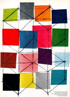 Charles Eames design for a kite, pasted up from brilliant swatches of paper. From Portfolio Magazine Volume 2.