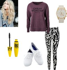 """Mondays :P"" by m-huntzy on Polyvore"