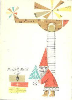 Vintage Soviet Christmas Print