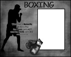 8x10 Black and White Boxing Picture Frame by SapphireCustomPhotos, $13.00