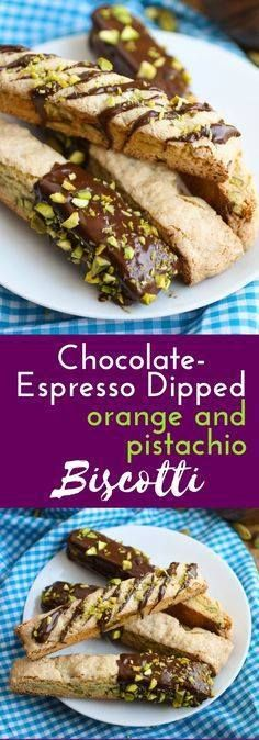 Chocolate-Espresso D Chocolate-Espresso Dipped Orange and...  Chocolate-Espresso D Chocolate-Espresso Dipped Orange and Pistachio Biscotti cookies are a treat. These cookies include fabulous flavors and are good to enjoy anytime! Recipe : http://ift.tt/1hGiZgA And @ItsNutella  http://ift.tt/2v8iUYW