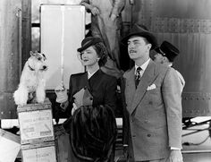 Asta, Myrna Loy and William Powell in The Thin Man Goes Home