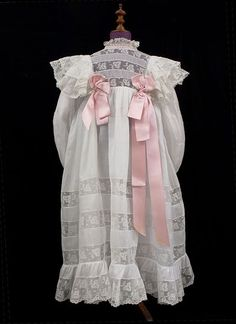 Girl's cotton dress, c.1890, from the Vintage Textile archives.