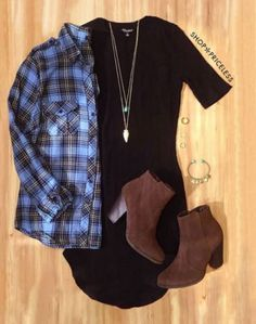 I love pairing cute and cheap fall dresses with flannels!