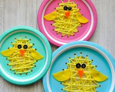 spring crafts for toddlers fine motor This darling paper plate sewing Easter chick craft is exploding with cuteness. Fun Easter craft for kids, sewing kids craft and spring kids craft. Preschool Crafts, Kids Crafts, Arts And Crafts, Decor Crafts, Wood Crafts, Easy Crafts, Easter Activities For Kids, Sensory Activities, Creative Crafts
