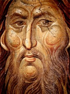 Ο Άγιος Ιωάννης ο Βαπτιστής. Εικόνα στο μοναστήρι του Υψηλού Δεκανίου,  Κοσσυφοπέδιο, Σερβία. 1340 Byzantine Icons, Byzantine Art, Mural Painting, Painting & Drawing, Fresco, Russian Icons, Best Icons, John The Baptist, Art Icon