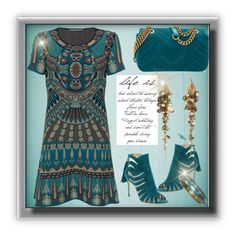 """""""Teal for Two"""" by onesweetthing ❤ liked on Polyvore featuring Alberta Ferretti, Paul Andrew, Gucci and Alexis Bittar"""