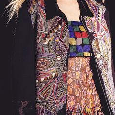 This Dries Van Noten jacket proves that embroidery isn't just for dresses. See more http://www.londonfittingrooms.com/le-boudoir/embroidered-dresses-summer-2015-fashion-trends