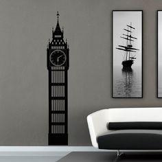 Big Ben Wall Decal London Skyline Silhouette Decals Murals
