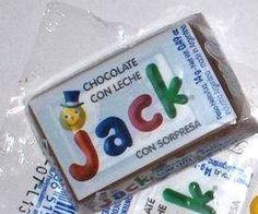 Chocolate Jack, con sus muñequitos para coleccionar... El huvo kinder de mi infancia