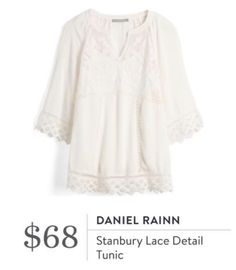 Daniel Rainn Stanbury Lace Detail blouse - stitch fix spring style boho romantic Daniel Rainn Stanbury Lace Detail Tunic