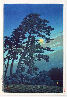 Moon at Megome  Kawase Hasui