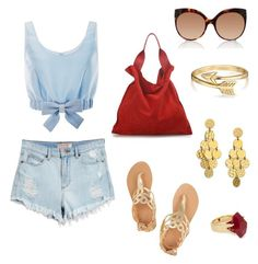 """""""Sin título #9"""" by mariapaulaporrasl ❤ liked on Polyvore featuring GUESS, Honor, Ancient Greek Sandals, Jil Sander, Linda Farrow, Lola Rose, Bling Jewelry and Stephanie Kantis"""