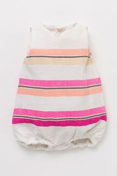 STYLE DETAILS - A children's onesie made from mid-weight cotton that highlights lemlem's signature handwoven production - cotton, acrylic - Origin: Handmade in Ethiopia - Care: Hand wash FEATU My Baby Girl, Baby Love, Little Girl Fashion, Kids Fashion, Maila, Kid Styles, Baby Sewing, Trends, New Baby Products