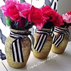gold vase, gold centerpiece, wedding centerpieces for tables, baby shower decoration, anniversa Gold Bridal Showers, Bridal Shower Rustic, Bridal Shower Invitations, Invites, Black Centerpieces, Gold Wedding Centerpieces, Bridal Shower Centerpieces, Table Centerpieces, Wedding Cake