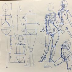 "Gefällt 7,015 Mal, 9 Kommentare - Will Weston (@willwestonstudio) auf Instagram: ""Figure construction and proportional systems. A demo in a student's drawing pad at ArtCenter today.…"""