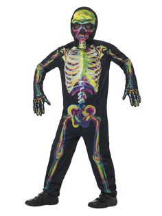 Smiffy's Glow in The Dark Skeleton Costume, Multicolor, X-Large Best Halloween Costumes & Dresses USA Christmas Fancy Dress, Halloween Fancy Dress, Cool Halloween Costumes, Halloween Kids, Vintage Halloween, Childrens Fancy Dress, Adult Fancy Dress, Kids Costumes Boys, Cat Costumes