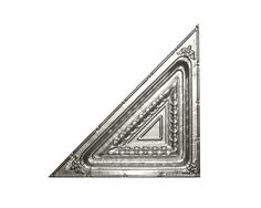 CEILING PANEL: #2713 PRICE: $15.00 DIMENSIONS: 24 in. Triangle. WFNorman. (Option for Panel C, triangle)