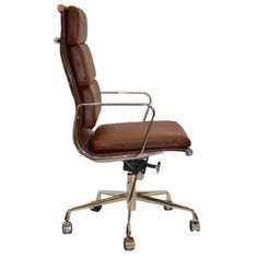 leather desk chairs. Modern Leather Office Chair Retro Eames Style Tan Brown 01 Desk Chairs A