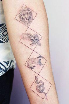 23 Amazing Harry Potter tattoos you have to see! tattoos Gorgeous Harry Potter-inspired tattoos - More Than Thursdays Irezumi Tattoos, Henna Tattoos, Body Art Tattoos, Small Tattoos, Tattoos For Guys, Tattoos For Women, Cat Tattoos, Friend Tattoos, Tatoos
