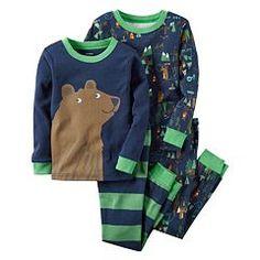 Toddler Boy Carter's Woodland Animal Pajama Set