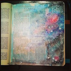 Genesis 1, creation, journaling Bible