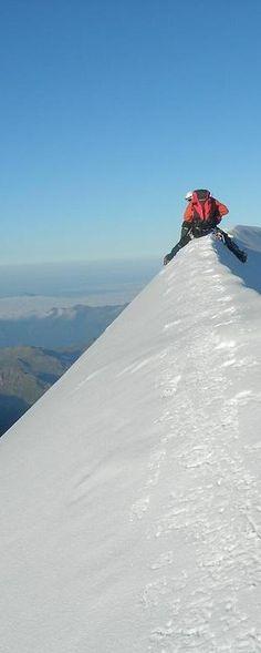 Monte Bianco-Arrivo in vetta-