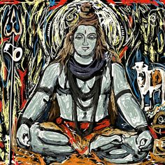 Shiva von Tom Morris - Gerahmte Leinwand drucken