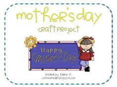 Celebrate Mother's Day by giving Mom, Grandma, and/or Auntie this cute Mother's Day flower craft! Each booklet has eight pages. Students will c...