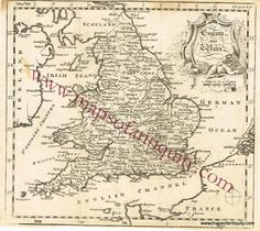 England and Wales - Antique Maps and Charts – Original, Vintage, Rare Historical Antique Maps, Charts, Prints, Reproductions of Maps and Charts of Antiquity