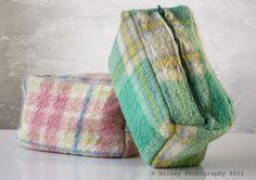 Toilettas van oude dekens. Haikeys Home and Garden