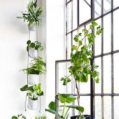 Pots Vertical Flowerpot Trimm Copenhagen Blanc - pot outdoor