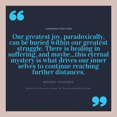 Our greatest joy, paradoxically, can be buried within our greatest struggle. There is healing in suffering, and maybe.this eternal mystery is what drives our inner selves to continue reaching further distancesn Los Angeles Marathon, Inspiring Quotes, Motivational Quotes, First Marathon, Long Distance Running, Have Faith In Yourself, Running Inspiration, Running Motivation, Negative Emotions