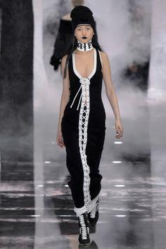 FentyxPuma-Rihanna-Lace-Up-Maxi-Dress-Beanie-NYFW-Fashion-Glamazonsblog