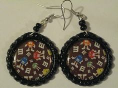 Image detail for -Theme Bottle Cap earrings Fun/Unique and by skywildfunstuff