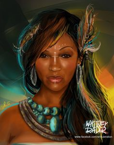 Meagan Good Warrior Print Etsy - Purchasing A Print Of Meagan Good Warrior Picture Printed In X Size The Prints Are All Matte Cardstock They Are Sturdy And Perfect For Framing Digital Illustration Done By Whitney Rader Sexy Black Art, Black Love Art, Black Girl Art, Art Girl, Native American Warrior, Native American Women, African American Art, African Art, American Indians