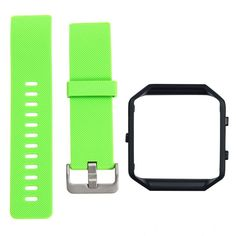 size can be adjusted Black Frame+Soft Silicone wrist Smart Watch band Replace Sport Strap For Fitbit Blaze Smart Watch