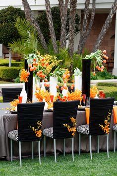#SoniaSharmaEvents #orange #tablescape