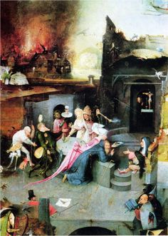 temptation of st anthony 2 by Hieronymus Bosch small