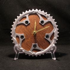 Recycled Mountain Bike Chainring Clock by TheHippieSpot on Etsy, $44.95