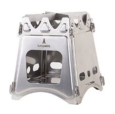 WoodFlame Ultra Lightweight Wood Burning Stove, Camping Stove, Backpacking Stove, Stainless Steel with Nylon Carry Case - Perfect for Survival Packs & Emergency Preparedness by kampMATE -- You can get additional details at the image link. Portable Wood Stove, Emergency Preparedness, Survival, Best Wood Burning Stove, Folding Structure, Stainless Steel Stove, Multi Fuel Stove, Camping Stove, Camping Kitchen