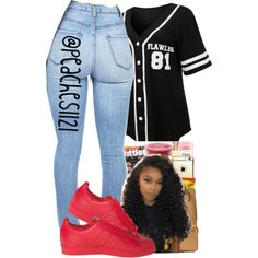 A fashion look from July 2015 featuring LE3NO t-shirts and adidas sneakers. Browse and shop related looks.