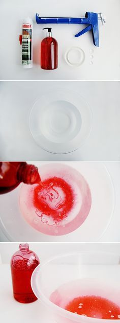 How to Make a DIY Silicone Mould how to make a silicone mold::::In a disposable bowl mix 1 part dish soap to 10 parts water. Sqeeze out bathroom SILICONE sealant into this bowl. Work the silicone until it is not sticky. Keep wet to transfer into another How To Make Silicone, Diy Silicone Molds, Resin Crafts, Fun Crafts, Diy And Crafts, Clay Projects, Diy Projects To Try, Diy Savon, Paperclay