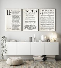 If Poem Invictus Poem and Desiderata Inspirational Poems Set of 3 by WallBuddy on Etsy Vintage Images, Vintage Posters, Invictus Poem, Office Walls, Office Nook, Office Spaces, Office Decor, Inspirational Poems, Printing Ink