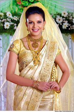 kerala wedding saree Kerala Wedding Saree, Kerala Bride, South Indian Bride, Saree Wedding, Bridal Sarees, Wedding Dress, Wedding Attire, Wedding Bride, Dream Wedding