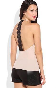 Deb Shops Flowy Tank Top with Crochet Back Detail $12.00