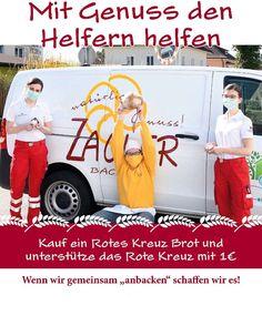 """❗️Gemeinsam helfen wir Helfern❗️ Wenn wir zusammen """"anbacken"""" können wir es durch diese schwere Zeit schaffen. Deshalb spenden wir pro verkauftes Rotes Kreuz Brot 1 € an das Rote Kreuz. Holt euch also ein Laib bei Zagler und tut euch und anderen etwas Gutes! 🍀  Wir freuen uns auf eure Unterstützung! 😊  #zagler #naturbäckereizagler #mitgenusshelfen #spenden #roteskreuz #roteskreuzösterreich #gemeinsamhelfen #wirspenden #brot Helfer, Red Cross, Make A Donation, First Aid, Brot"""